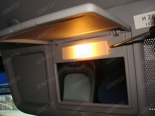 Vanity Lamp In Car : Install the LED Vanity Mirror Lights on a Mazda RX-8