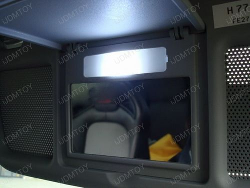 Vanity Lights Installed On Mirror : Install the LED Vanity Mirror Lights on a Mazda RX-8