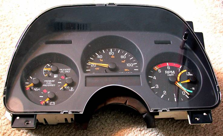 Image 215 from Installing  Custom Gauge Faces on a GMC Syclone