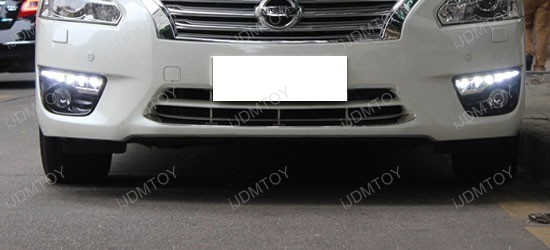 Install LED Daytime Running Lights/turn Signal Lamps