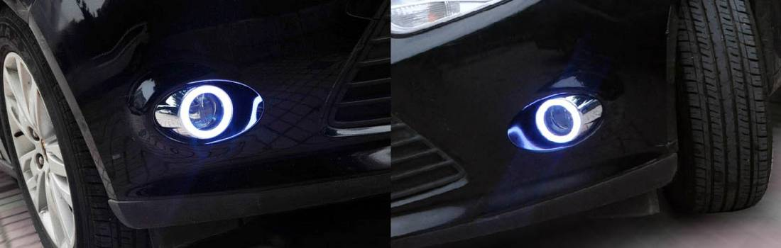 Install the Fog Lamp LED Daytime Running Lights