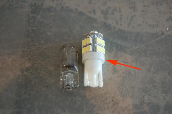 Image 4977 from Convert the Overhead Console Bulbs To LED on a GMC Typhoon
