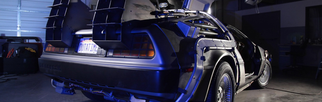 Travel Back In Time with a Delorean Time Machine
