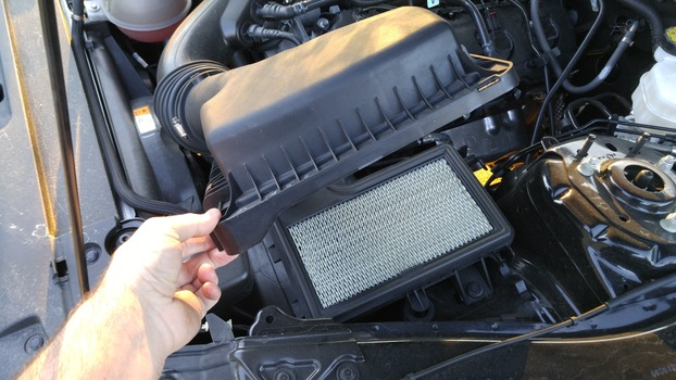 Image 6412 from Change the Engine Air Filter on a 2015+ Ford Mustang 3.7l V6