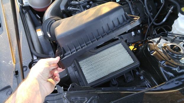 change the engine air filter on a 2015 ford mustang v6. Black Bedroom Furniture Sets. Home Design Ideas