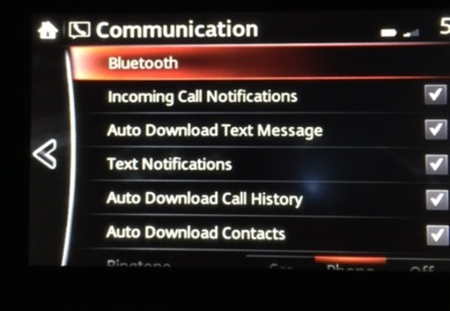 Image 6823 from Configure Bluetooth Settings for the iPhone on a 2016 Mazda CX-5