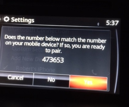 Image 6826 from Configure Bluetooth Settings for the iPhone on a 2016 Mazda CX-5