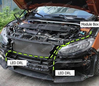 Image 7272 from Install the LED Daytime Running Lights on a 2016 Honda Civic