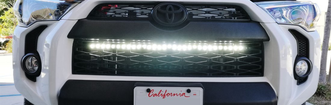 Install the iJDMTOY LED Light Bar on a 2014-up Toyota 4Runner