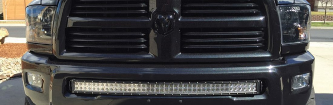Install the 40'' 240W LED Light Bar