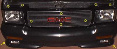 Image 338 from Remove the Grille on a GMC Syclone