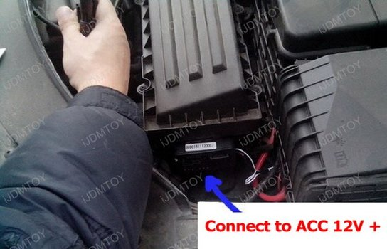 Image 8290 from Install the Switchback LED DRL Assy on a Volkswagen CC