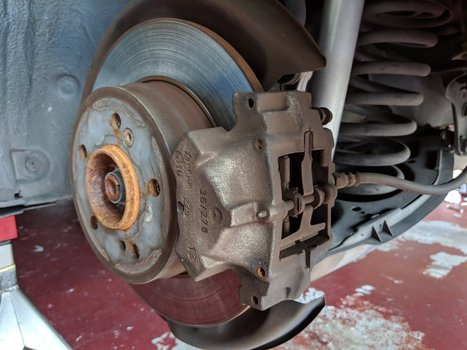 Image 8293 from Replace the Rear Brake Pads on a Chrysler Crossfire