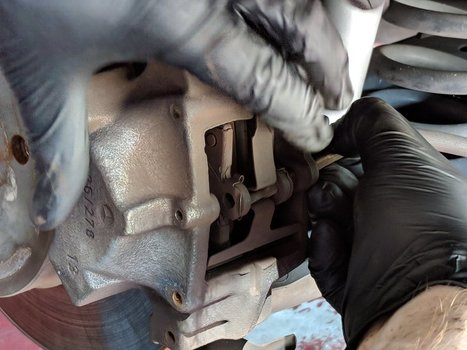 Image 8295 from Replace the Rear Brake Pads on a Chrysler Crossfire