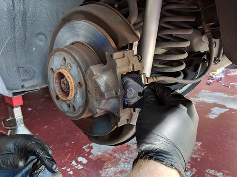 Image 8300 from Replace the Rear Brake Pads on a Chrysler Crossfire