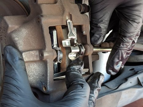 Image 8301 from Replace the Rear Brake Pads on a Chrysler Crossfire